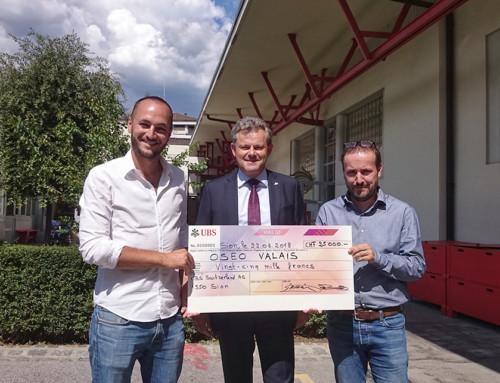L'OSEO Valais reçoit 25'000 francs de l'UBS